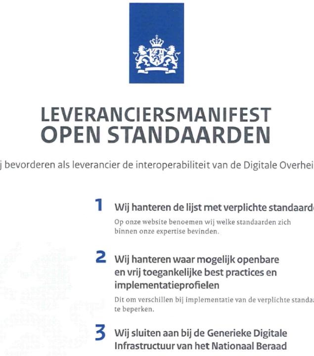 Greenpoint onderschrijft leveranciersmanifest OPEN STANDAARDEN